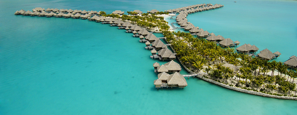 <h2>St Regis Bora Bora Getaway</h2><p>5 Nights, a Lagoon Cruise and a $250 Resort Credit!<p><p class=price>From <strong>$5150</strong></p>