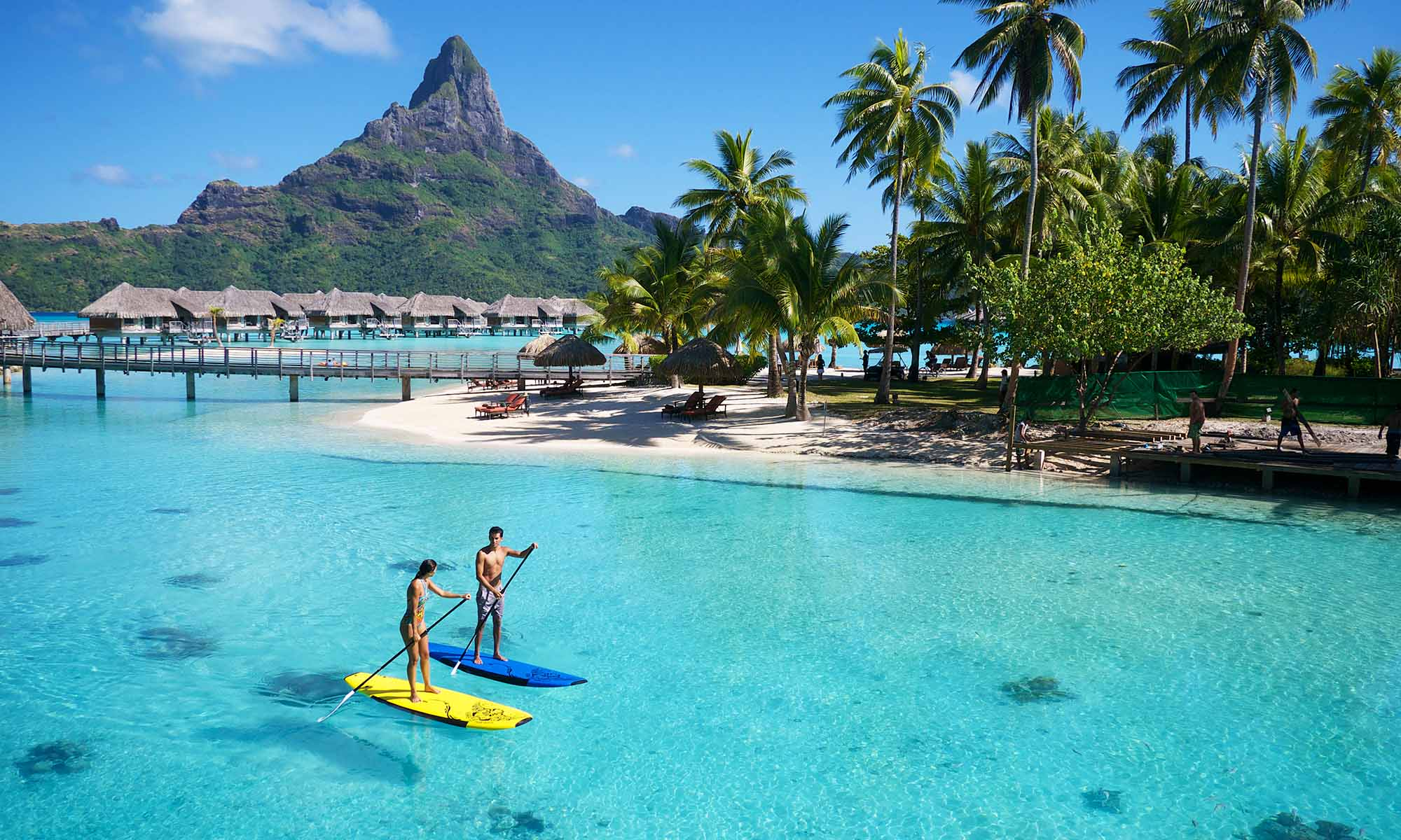Paddleboarding at the InterContinental Bora Bora Resort & Thalasso Spa