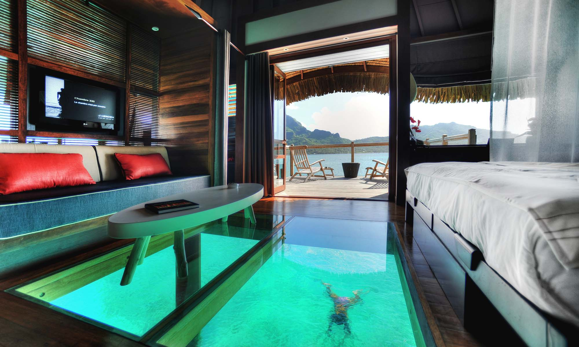Le Meridien is Home to the Largest Glass Floor Panels in all of French Polynesia