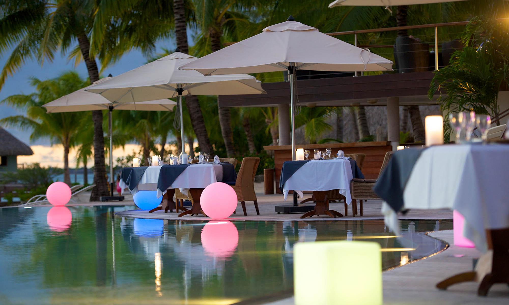 Al Fresco Dining at Le Meridien Bora Bora