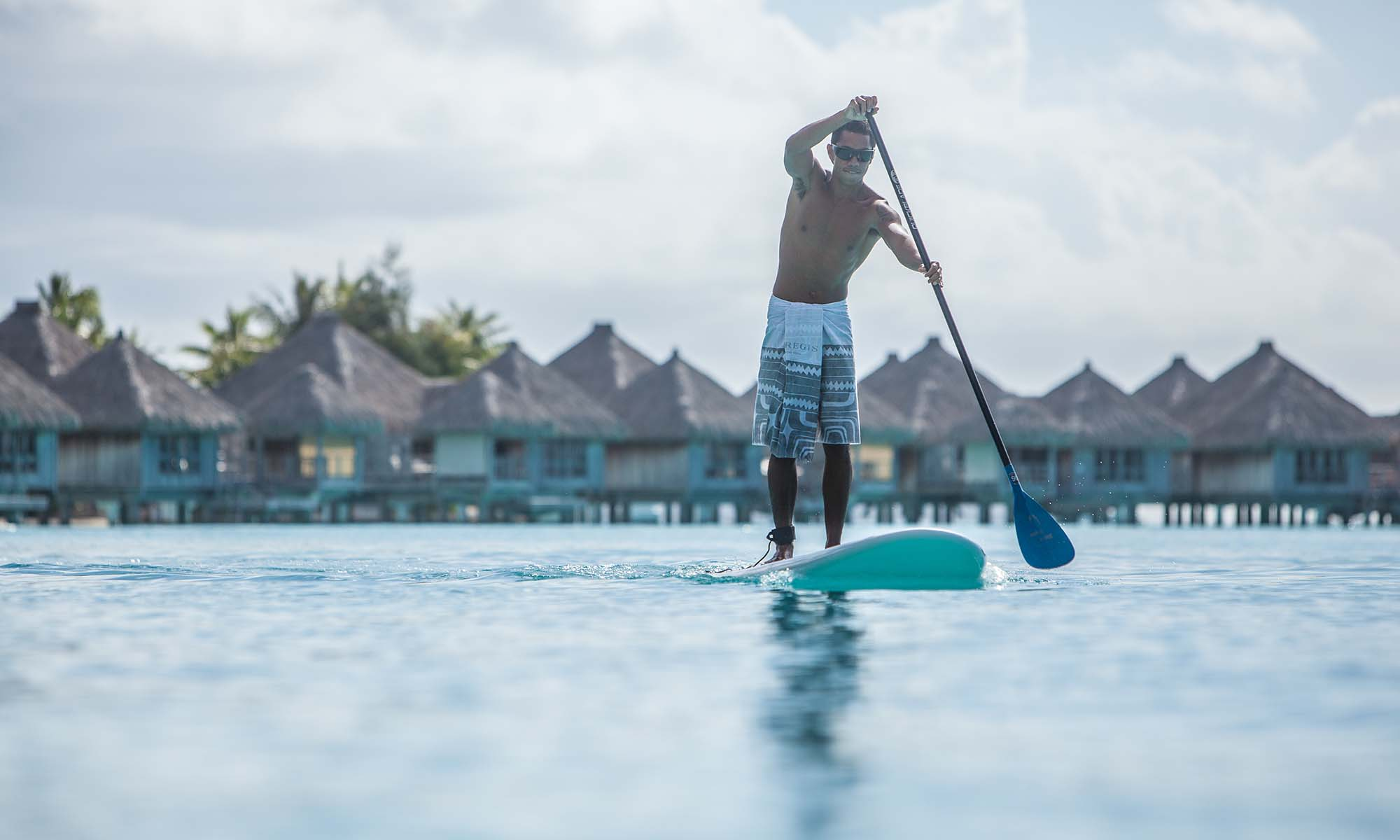 Paddleboarding at the St Regis Bora Bora Resort