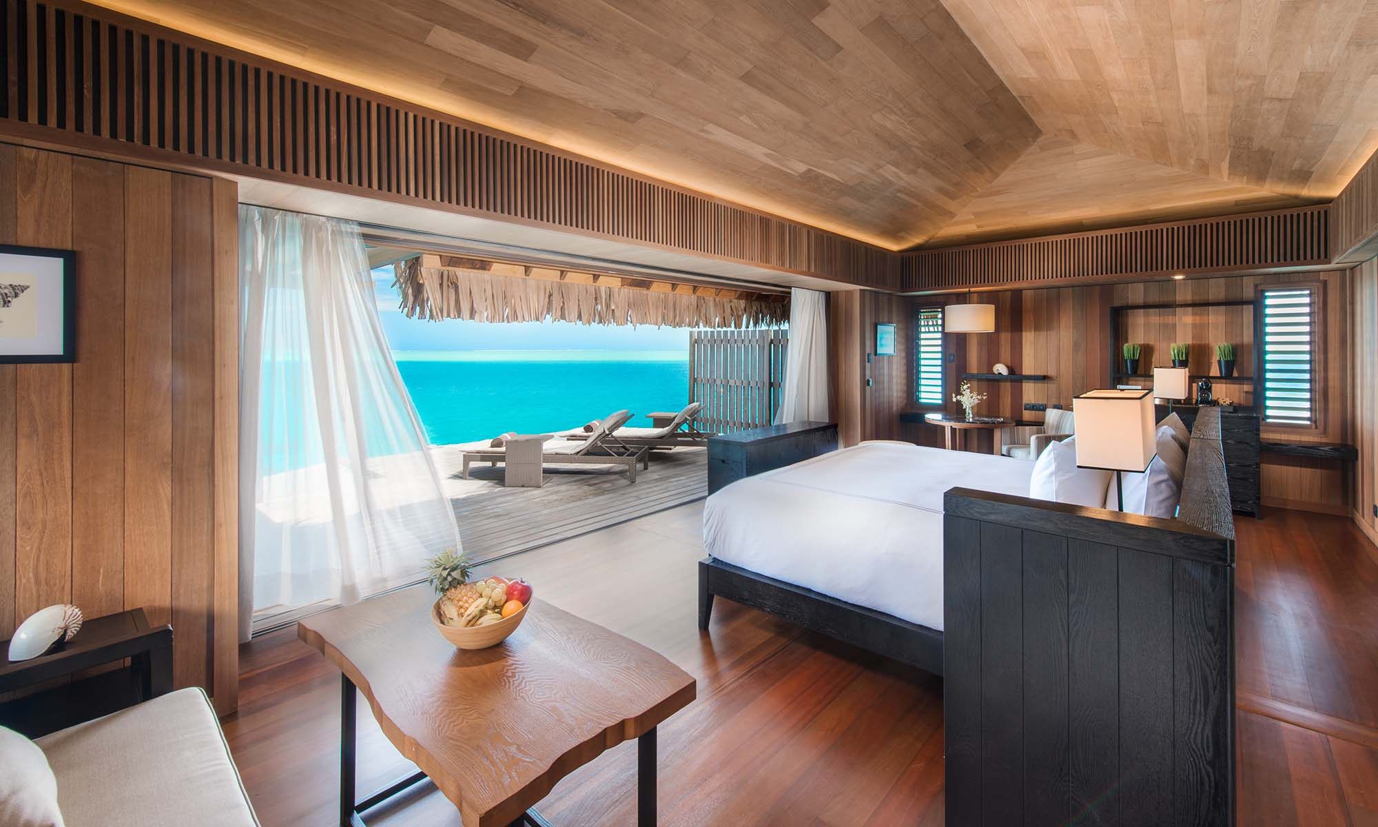 Interior of the Overwater Villa at the Conrad Bora Bora Nui