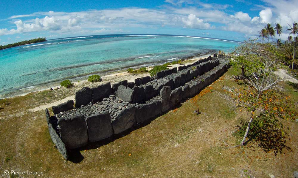 Ancient Marae Temples on Huahine