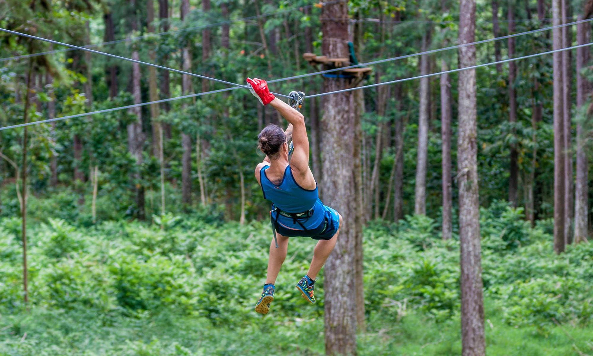 Zipline Through Moorea's Lush Jungle