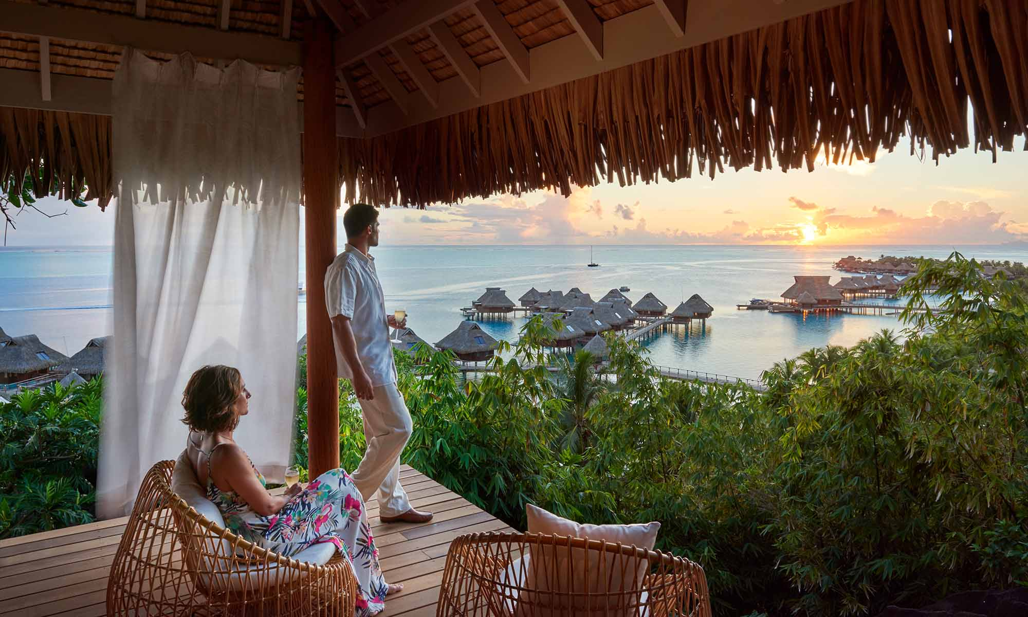 Million Dollar View at the Conrad Bora Bora Nui
