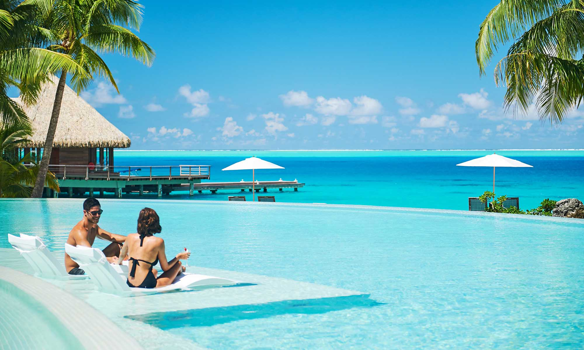 Pool Lounging at the Conrad Bora Bora Nui