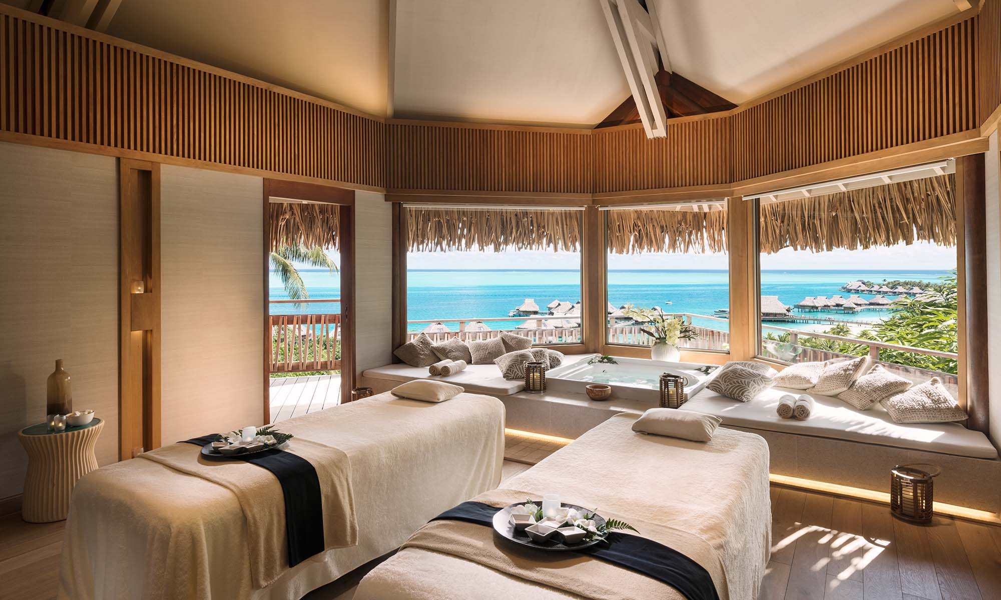 Conrad Bora Bora Nui, Couples Massage at Hina Spa