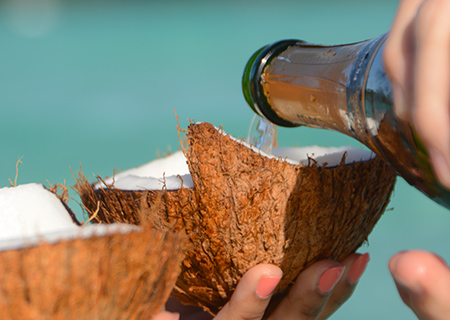Take a Photo Break with Champagne in Coconuts