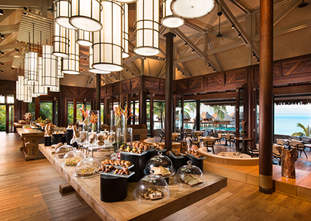 Breakfast Buffet at Iriatai Restaurant, Conrad Bora Bora Nui