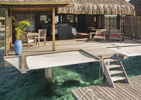 Deck of the Overwater Villa