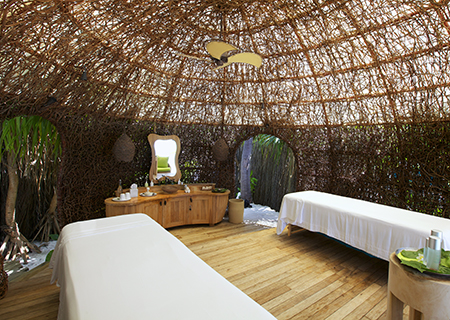 Couple's Open Air Nest for Spa Treatments