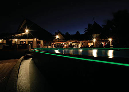 Matamanoa Island Resort, At Night