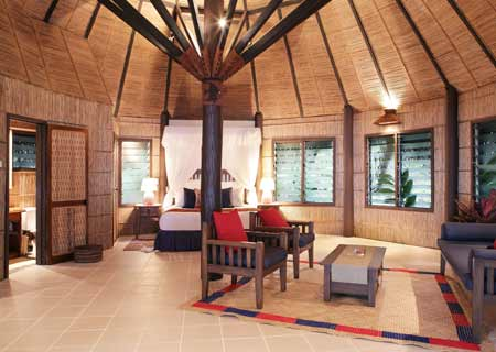 Matangi Private Island Resort, Fiji, Beach Bure Interior