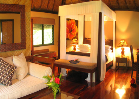 Qamea Resort & Spa Fiji, Oceanview Bure Interior