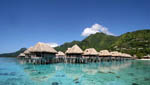The Sofitel Moorea Ia Ora Beach Resort has 114-rooms set in landscaped gardens, on the beach, or over the lagoon.