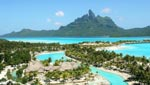 The St Regis Bora Bora Resort, offering the most exclusive island accommodations in the region, this sprawling 44-acre resort matches blissful Polynesian paradise with flawless signature service.